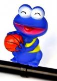 Piszczałka rowerowa żabka koszykarz