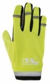 Rękawiczki rowerowe długie palce l żel neon żółty