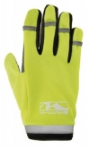 Rękawiczki rowerowe długie palce M żel neon żółte