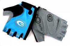 Rękawiczki rowerowe ergo gel M błękitne