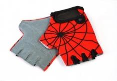 Rękawiczki rowerowe dziecięce lycra Spiderman