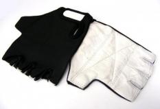 Rękawiczki rowerowe lycra czarna l