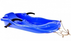 Sanki plastikowe z hamulcem race niebieskie