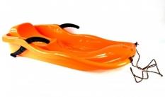 Sanki plastikowe z hamulcem race pomarańczowe