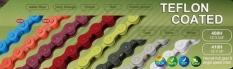 Łańcuch 112 Taya 410h BMX/fixie żółty teflon