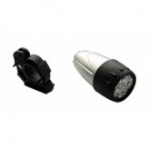 Lampka rowerowa przednia 5 LED  srebrna