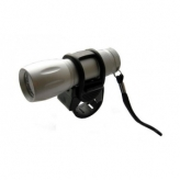 Lampka rowerowa przednia 9 LED baterie srebrna