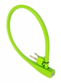 Zapięcie rowerowe silikon 10 x 600 mm limonka