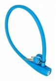 Zapięcie rowerowe pętla silikon 10 x 600 mm niebieski