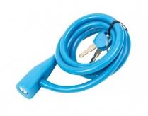 Zapięcie rowerowe  spirala silikon 10 x 1350 mm niebieski