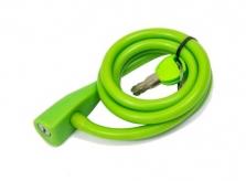 Zapięcie rowerowe spirala silikon 10 x 1350 mm zielony