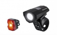 Lampki rowerowe Sigma Buster 100 + Nugget II flash
