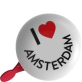 Dzwonek rowerowy ding dong 80mm I love Amsterdam