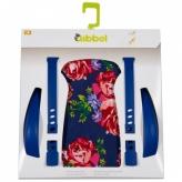 Zestaw do stylizacji tylnego fotelika rowerowego Qibbel kwiaty niebieski