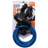 Zapięcie rowerowe Axa Zipp 120/8  spirala niebieski