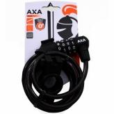 Zapięcie rowerowe Axa Rigid 180 spirala czarny szyfr