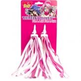 Pexkids streamers roze-witte franje