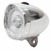 Lampka rowerowa przednia Union Retro Mini 3 diody LED chrom