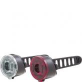 Zestaw lampek rowerowych Spanninga Dot
