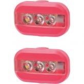 Zestaw lampek rowerowych Urban Proof Clip czerwony