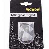Klips odblaskowy WOWOW Magnetlight Urban biały