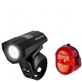 Zestaw lampek rowerowych Sigma Buster 100 HL + Nugget II