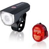 Zestaw lampek rowerowych Sigma Aura 40 + Nugget II