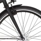 "Widelec rowerowy Cortina Mozzo 28"" jet black mat"