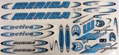 Naklejki na rower Merida niebieska 5szt=kpl