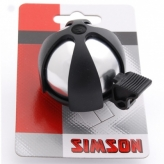 Dzwonek rowerowy dziecięcy Simson Sport chrom czarny