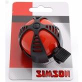 Dzwonek rowerowy dziecięcy Simson Joy czerwony
