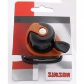 Dzwonek rowerowy Simson Allure czarny - brązowy