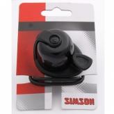 Dzwonek rowerowy Simson Allure czarny