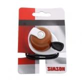 Dzwonek rowerowy Simson Allure brązowy - biały
