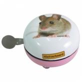 Dzwonek rowerowy ding dong 80mm mysz