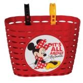 Koszyk rowerowy dziecięcy Widek Minnie Mouse czerwony