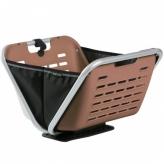 Koszyk rowerowy przedni składany Yepp Cargo Boxx brązowy - czarny
