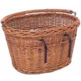 Koszyk rowerowy przedni wiklinowy Basil Denver brązowy