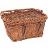 Koszyk rowerowy przedni Basil Davos wiklina brązowy