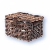 Koszyk rowerowy wiklina Basil Denton S brązowy