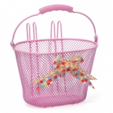 Koszyk rowerowy dziecięcy New Looxs Asti Arabella różowy