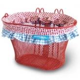 Koszyk rowerowy dziecięcy Basil Jasmin Farm czerwony