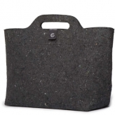 Cortina sofia shopper bag recycled velt, black/antra
