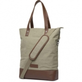 Cortina oslo shopper bag, canvas/leather army green