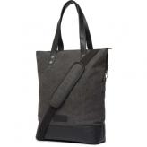 Cortina oslo shopper bag, canvas/leather, antra/black