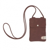 Cortina tunis phone bag leat/canv cycl