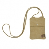 Cortina tunis phone bag leat/canv sand
