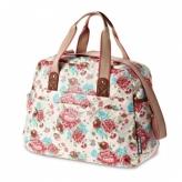 Torba rowerowa  Basil Bloom Carry All Bag biała kwiaty