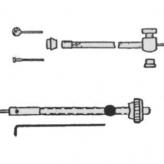 Zestaw linka + pancerz do przedniego hamulca bębnowego elvedes 6268 spec