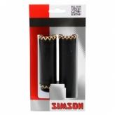 Chwyty rączki rowerowe Simson skóra czarne